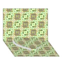 Modern Pattern Factory 04 Heart Bottom 3D Greeting Card (7x5)
