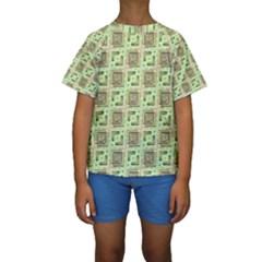 Modern Pattern Factory 04 Kid s Short Sleeve Swimwear