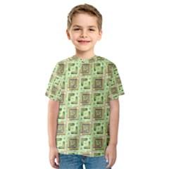 Modern Pattern Factory 04 Kid s Sport Mesh Tees