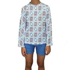 Modern Pattern Factory 04b Kid s Long Sleeve Swimwear