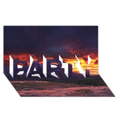 SAN GABRIEL MOUNTAIN SUNSET PARTY 3D Greeting Card (8x4)