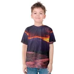 SAN GABRIEL MOUNTAIN SUNSET Kid s Cotton Tee