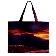 SAN GABRIEL MOUNTAIN SUNSET Zipper Tiny Tote Bags