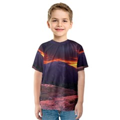SAN GABRIEL MOUNTAIN SUNSET Kid s Sport Mesh Tees