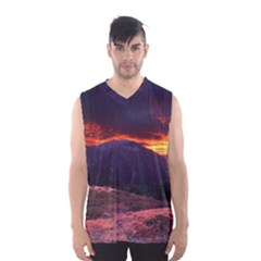 San Gabriel Mountain Sunset Men s Basketball Tank Top