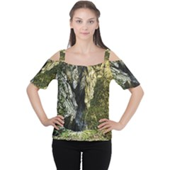 Mountain Path Women s Cutout Shoulder Tee