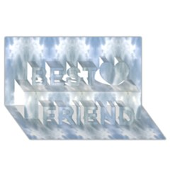 Ice Crystals Abstract Pattern Best Friends 3D Greeting Card (8x4)