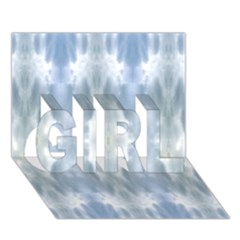 Ice Crystals Abstract Pattern GIRL 3D Greeting Card (7x5)