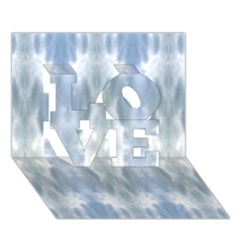 Ice Crystals Abstract Pattern LOVE 3D Greeting Card (7x5)