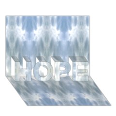 Ice Crystals Abstract Pattern HOPE 3D Greeting Card (7x5)