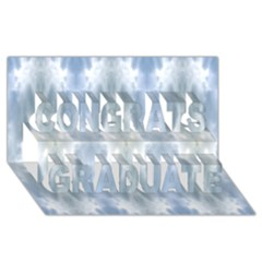 Ice Crystals Abstract Pattern Congrats Graduate 3D Greeting Card (8x4)