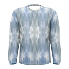Ice Crystals Abstract Pattern Men s Long Sleeve T-shirts