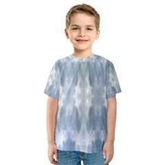 Ice Crystals Abstract Pattern Kid s Sport Mesh Tees