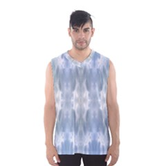 Ice Crystals Abstract Pattern Men s Basketball Tank Top