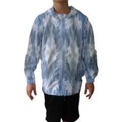 Ice Crystals Abstract Pattern Hooded Wind Breaker (kids)