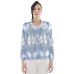 Ice Crystals Abstract Pattern Wind Breaker (women)