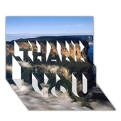 MOUNT RORAIMA 2 THANK YOU 3D Greeting Card (7x5)