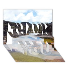MOUNT RORAIMA 1 THANK YOU 3D Greeting Card (7x5)