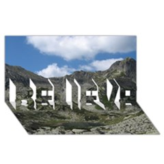LAKELET BELIEVE 3D Greeting Card (8x4)