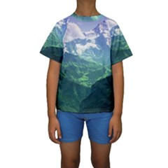LAGHI DI FUSINE Kid s Short Sleeve Swimwear