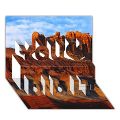 GRAND CANYON 3 You Did It 3D Greeting Card (7x5)