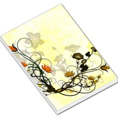 Wonderful Flowers With Leaves On Soft Background Large Memo Pads