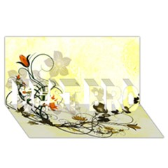 Wonderful Flowers With Leaves On Soft Background BEST BRO 3D Greeting Card (8x4)