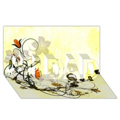 Wonderful Flowers With Leaves On Soft Background #1 DAD 3D Greeting Card (8x4)