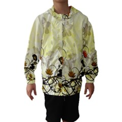 Wonderful Flowers With Leaves On Soft Background Hooded Wind Breaker (kids)
