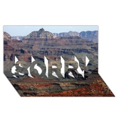 Grand Canyon 2 Sorry 3d Greeting Card (8x4)