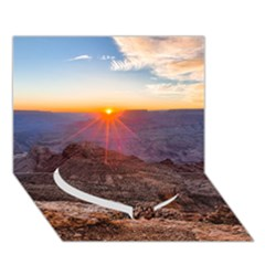 GRAND CANYON 1 Heart Bottom 3D Greeting Card (7x5)