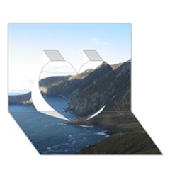 Croaghaun Cliffs Heart 3d Greeting Card (7x5)