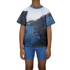 CROAGHAUN CLIFFS Kid s Short Sleeve Swimwear