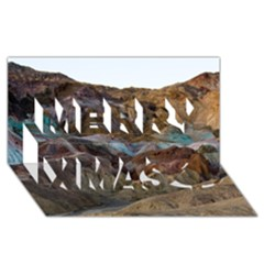 Artists Palette 2 Merry Xmas 3d Greeting Card (8x4)