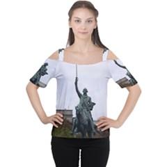 Washington Statue Women s Cutout Shoulder Tee