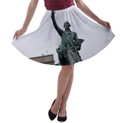 WASHINGTON STATUE A-line Skater Skirt