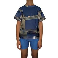TOWER BRIDGE Kid s Short Sleeve Swimwear