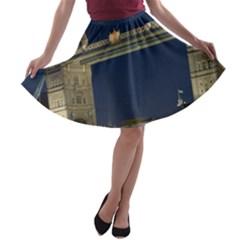 Tower Bridge A Line Skater Skirt