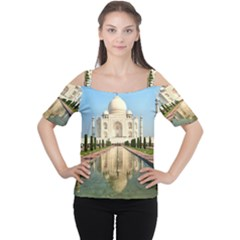 TAJ MAHAL Women s Cutout Shoulder Tee