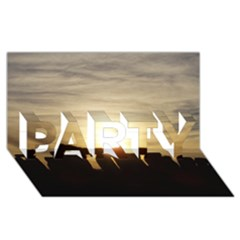 Sunset Stonehenge Party 3d Greeting Card (8x4)