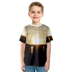 SUNSET STONEHENGE Kid s Sport Mesh Tees