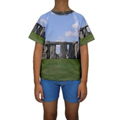 Stonehenge Kid s Short Sleeve Swimwear