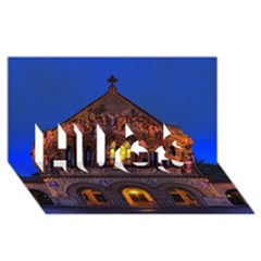 Stanford Chruch Hugs 3d Greeting Card (8x4)