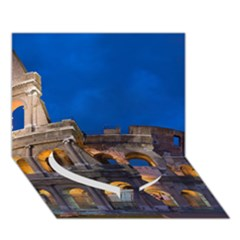Rome Colosseum 2 Heart Bottom 3d Greeting Card (7x5)