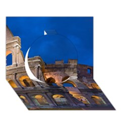 Rome Colosseum 2 Circle 3d Greeting Card (7x5)
