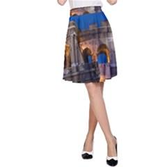 Rome Colosseum 2 A Line Skirt