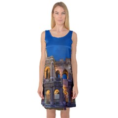 Rome Colosseum 2 Sleeveless Satin Nightdresses