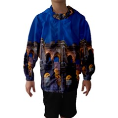 Rome Colosseum 2 Hooded Wind Breaker (kids)
