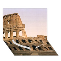 ROME COLOSSEUM Heart Bottom 3D Greeting Card (7x5)
