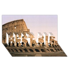 Rome Colosseum Best Sis 3d Greeting Card (8x4)